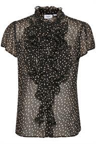 Saint Tropez blouse lilly in het Zwart / Beige