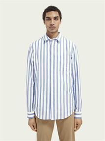 Scotch & Soda casual overhemd 160783 in het Wit/Blauw