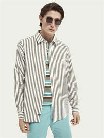 Scotch & Soda casual overhemd 160783 in het Wit/Groen