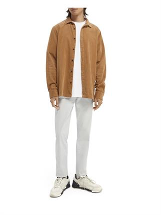 Scotch & Soda casual overhemd 163354 in het Beige
