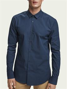 Scotch & Soda casual overhemd Slim Fit 132837 in het Donker Blauw