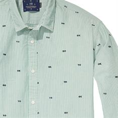 Scotch & Soda casual overhemd Slim Fit 139592 in het Groen
