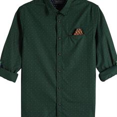 Scotch & Soda casual overhemd Slim Fit 145371 in het Mint Groen