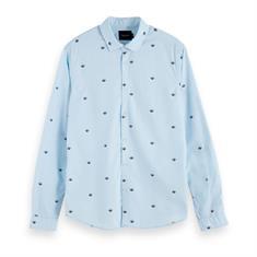 Scotch & Soda casual overhemd Slim Fit 153548 in het Licht Blauw