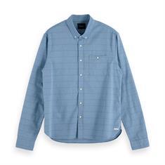 Scotch & Soda casual overhemd Slim Fit 153552 in het Blauw
