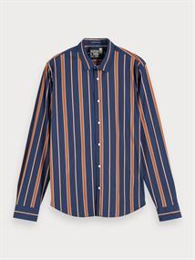Scotch & Soda casual overhemd Slim Fit 155179 in het Blauw