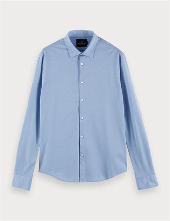 Scotch & Soda jersey overhemd Slim Fit 160777 in het Licht Blauw