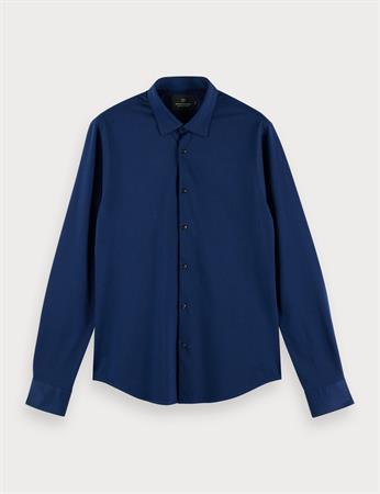 Scotch & Soda jersey overhemd Slim Fit 160777 in het Marine