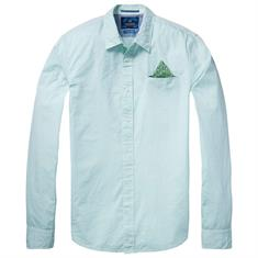 Scotch & Soda overhemd 136326 in het Mint Groen