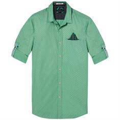 Scotch & Soda overhemd 142611 in het Mint Groen