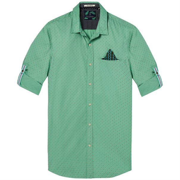 Scotch & Soda overhemd 142611 in het Mint Groen