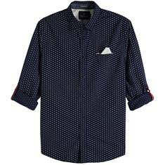 Scotch & Soda overhemd 145371 in het Kobalt