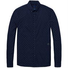 Scotch & Soda overhemd 147424 in het Donker Blauw