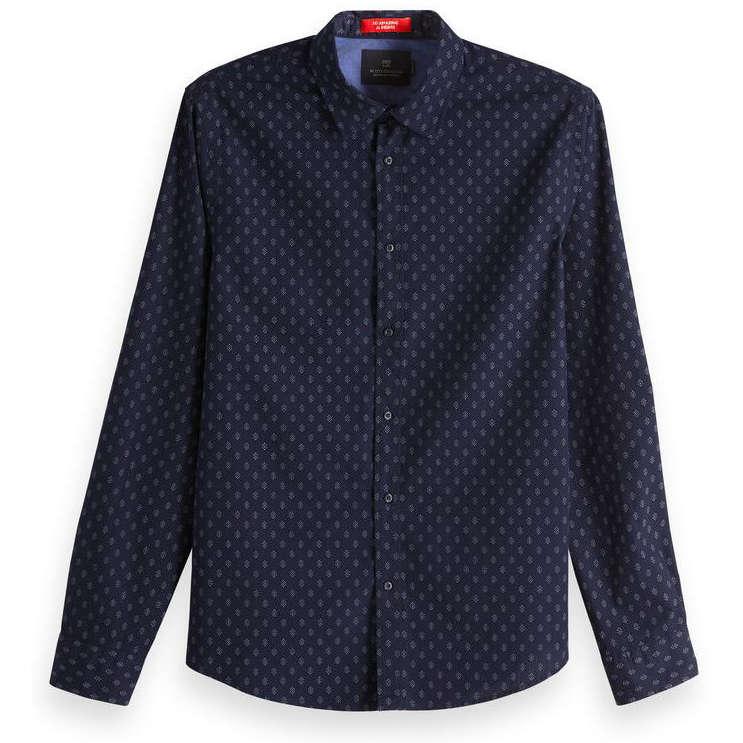 Scotch & Soda overhemd 148846 in het Donker Blauw