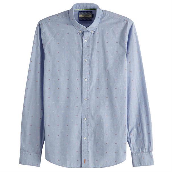 Scotch & Soda overhemd 148851 in het Blauw