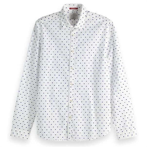 Scotch & Soda overhemd 150491 in het Wit/Blauw