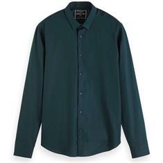 Scotch & Soda overhemd 152175 in het Donker Groen