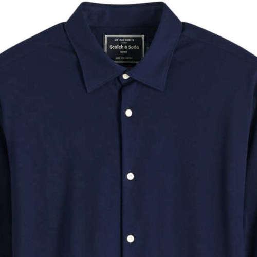 Scotch & Soda overhemd 152199 in het Donker Blauw