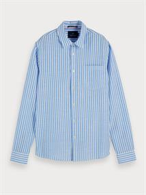 Scotch & Soda overhemd 155142 in het Wit/Blauw