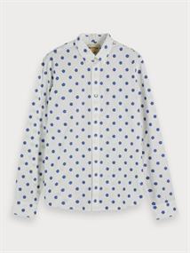 Scotch & Soda overhemd 155162 in het Wit/Blauw
