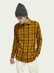 Scotch & Soda overhemd 158424 in het Oker