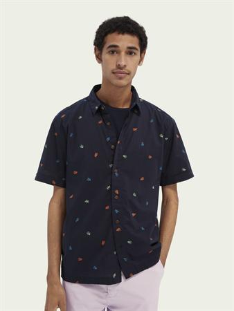 Scotch & Soda overhemd 160800 in het Donker Blauw