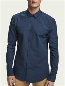 Scotch & Soda overhemd Slim Fit 132837 in het Donker Blauw