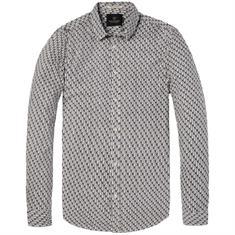 Scotch & Soda overhemd Slim Fit 142508 in het Wit/Blauw