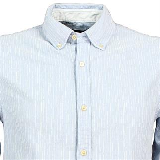 Scotch & Soda overhemd Slim Fit 144155 in het Licht Blauw