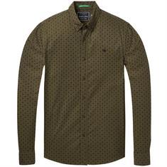 Scotch & Soda overhemd Slim Fit 145366 in het Mint Groen