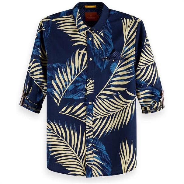 Scotch & Soda overhemd Slim Fit 148842 in het Blauw