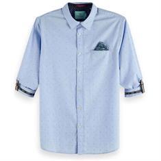 Scotch & Soda overhemd Slim Fit 148842 in het Marine