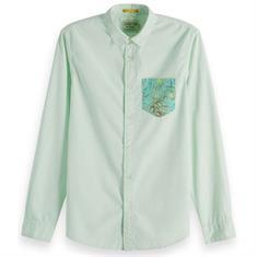 Scotch & Soda overhemd Slim Fit 148871 in het Mint Groen