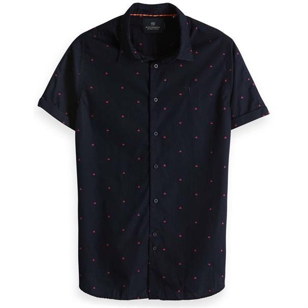 Scotch & Soda overhemd Slim Fit 148930 in het Donker Blauw