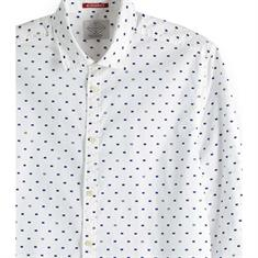Scotch & Soda overhemd Slim Fit 150491 in het Wit/Blauw