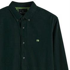 Scotch & Soda overhemd Slim Fit 152155 in het Donker Groen