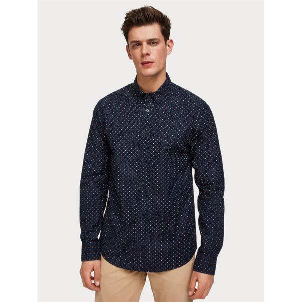 Scotch & Soda overhemd Slim Fit 152188 in het Donker Blauw