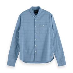 Scotch & Soda overhemd Slim Fit 153552 in het Blauw