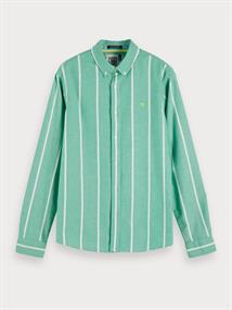 Scotch & Soda overhemd Slim Fit 155016 in het Groen