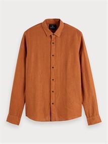 Scotch & Soda overhemd Slim Fit 155139 in het Roest