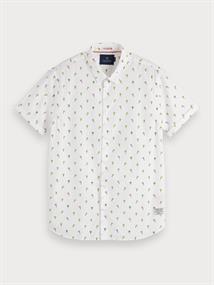 Scotch & Soda overhemd Slim Fit 155249 in het Wit
