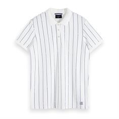 Scotch & Soda polo's 153627 in het Offwhite