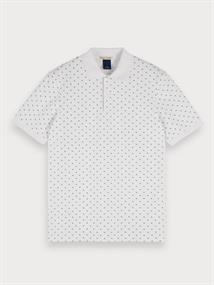 Scotch & Soda polo's 155468 in het Wit/Blauw