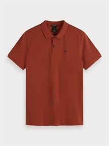 Scotch & Soda polo's Slim Fit 155452 in het Roest