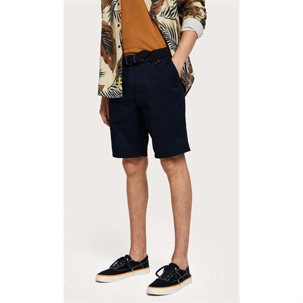 Scotch & Soda shorts Chino 148907 in het Donker Blauw