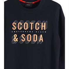 Scotch & Soda sweater Slim Fit 150525 in het Donker Blauw
