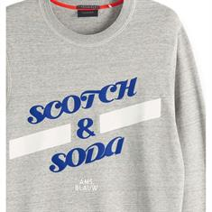 Scotch & Soda sweater Slim Fit 150525 in het Muisgrijs