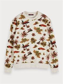 Scotch & Soda sweater Slim Fit 155283 in het Beige
