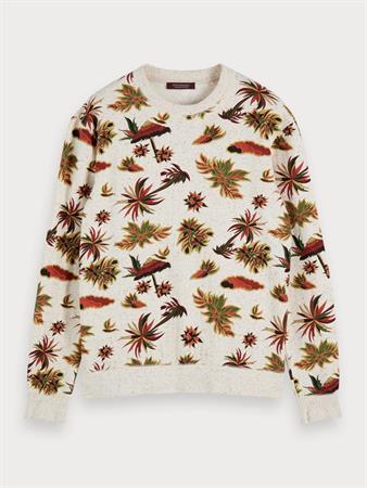 Scotch & Soda sweater Slim Fit 155283 in het Beige
