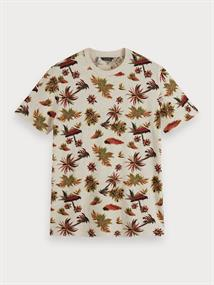 Scotch & Soda t-shirts 155399 in het Beige